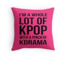 A LOT OF KPOP - PINK Throw Pillow