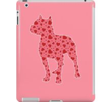 Pitbull Valentine Hearts Pattern iPad Case/Skin