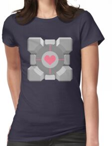 Companion Cube Womens Fitted T-Shirt