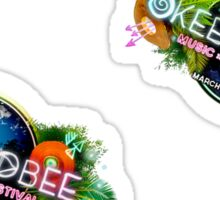 Okeechobee Music and Arts Festival small Sticker