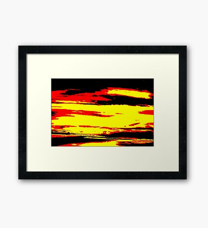 Psychedelic Sunset Photo Framed Print