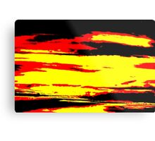 Psychedelic Sunset Photo Metal Print