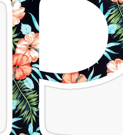 Rho Floral Greek Letter Sticker