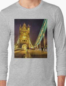 Tower Bridge at night  Long Sleeve T-Shirt
