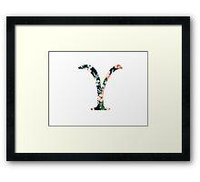 Upsilon Floral Greek Letter Framed Print