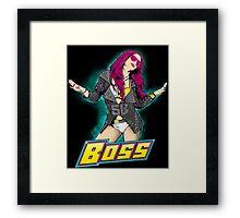 WWE Boss Banks Framed Print
