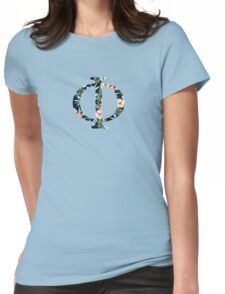 Phi Floral Greek Letter Womens Fitted T-Shirt