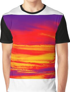 Psychedelic Sky Photo at Sunset Graphic T-Shirt
