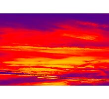 Psychedelic Sky Photo at Sunset Photographic Print