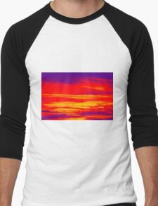 Psychedelic Sky Photo at Sunset Men's Baseball ¾ T-Shirt