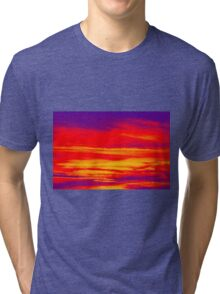 Psychedelic Sky Photo at Sunset Tri-blend T-Shirt
