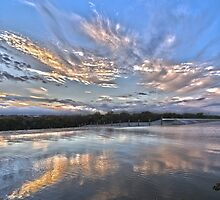 Sunset at White Rock Lake by becky-lou