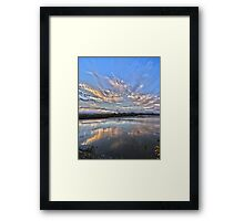 Sunset at White Rock Lake Framed Print