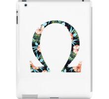 Omega Floral Greek Letter iPad Case/Skin