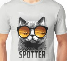 Plane Spotting Cat Unisex T-Shirt
