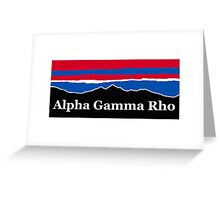 Alpha Gamma Rho RWB Greeting Card