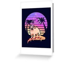 Pizza Pug Greeting Card