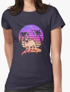 Pizza Pug Womens Fitted T-Shirt
