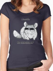 Chinchillas be Chinchillin' Women's Fitted Scoop T-Shirt
