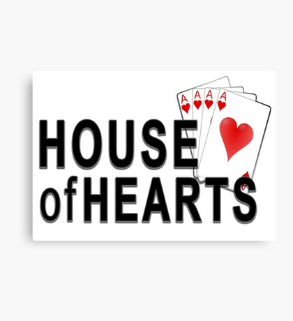 House of Hearts Canvas Print