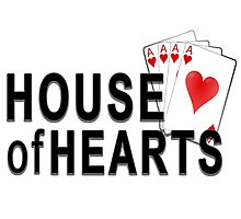 House of Hearts Photographic Print