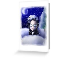 Cold Claude Greeting Card