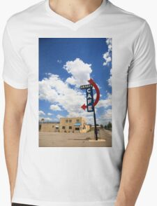 Route 66 - Grants Cafe Neon Mens V-Neck T-Shirt