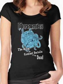 Necronomidex - The Book of the Contact Details of the Dead - T-shirts etc. Women's Fitted Scoop T-Shirt