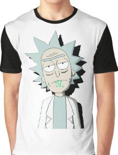 Pixelated Rick Sanchez  Graphic T-Shirt