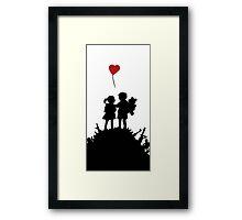 couple Banksy Boy And Girl Framed Print