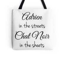 Chat Noir in the Sheets Tote Bag