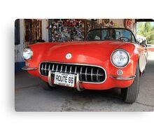 Route 66 Corvette Canvas Print
