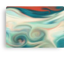 Digital painted texture retro pastel background. Abstract beautiful illustration, color, silk, liquid print. Canvas Print