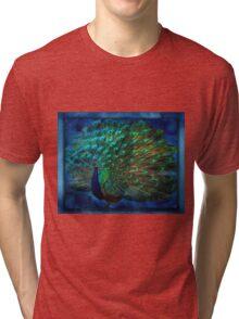 Being Yourself - Peacock Art Tri-blend T-Shirt
