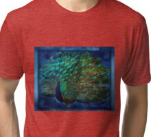 Being Yourself - Peacock Art Tri-blend T-Shirt