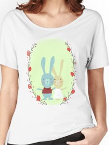Springtime Easter Bunnies Women's Relaxed Fit T-Shirt