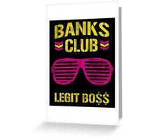 Sasha Banks Club Pink Yellow Greeting Card