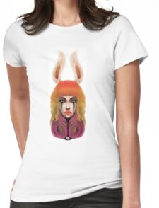 Bunny Face Womens Fitted T-Shirt