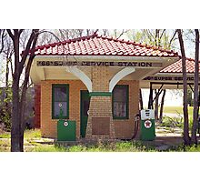 66 Super Gas Station Photographic Print