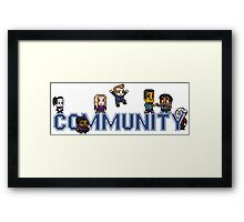 Community Logo with Characters Framed Print