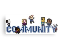 Community Logo with Characters Metal Print