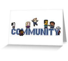 Community Logo with Characters Greeting Card