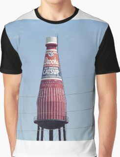 Route 66 - World's Largest Ketchup Bottle Graphic T-Shirt