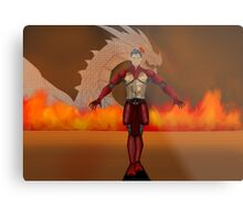 flame warrior (dicipline) one of four designs Metal Print