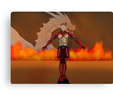 flame warrior (dicipline) one of four designs Canvas Print