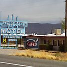 Route 66 - Frontier Motel by Frank Romeo