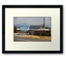 Route 66 - Frontier Motel Framed Print