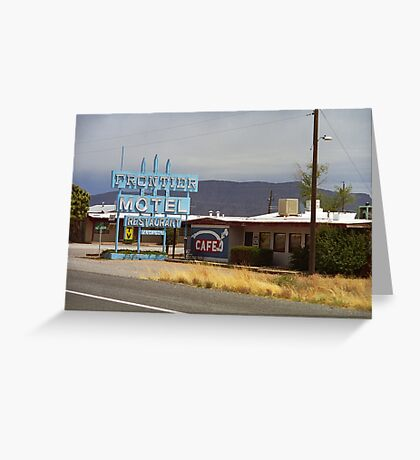 Route 66 - Frontier Motel Greeting Card