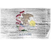 Illinois Flag Poster