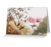 Magnolia Through A Drowned Lens Greeting Card